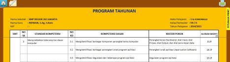 Contoh Program Tahunan