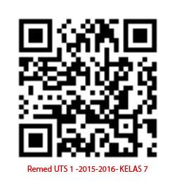 Barcode Remed UTS 1 2015-2016 Kelas 7